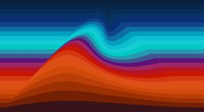 Abstracte gestreepte achtergrond met golf Vectorbehang vector illustratie