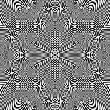 Abstracte gestreepte achtergrond Zwart-witte vectorillustratie stock illustratie