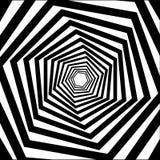 Abstracte gestreepte hexagonale optische illusie vector illustratie