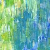 Abstracte geweven acryl en waterverfhand geschilderde achtergrond Stock Afbeeldingen