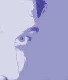 Abstracte gezichtsachtergrond Stock Foto's