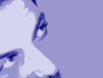 Abstracte gezichtsachtergrond Stock Afbeeldingen