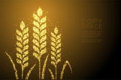 Abstracte Glanzende Bokeh-de Tarwevorm van het sterpatroon, gouden de kleurenillustratie van het Bakkerijconceptontwerp royalty-vrije illustratie