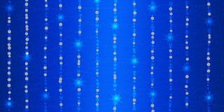 Abstracte Glanzende Fonkelingen en Sterren op Blauwe Achtergrond royalty-vrije illustratie