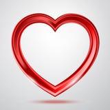 Abstracte glanzende hartenvorm vector illustratie