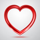 Abstracte glanzende hartenvorm Royalty-vrije Stock Foto's