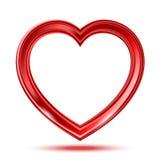 Abstracte glanzende hartenvorm Stock Afbeelding