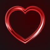 Abstracte glanzende hartenvorm stock illustratie