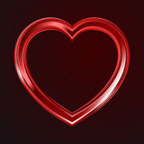 Abstracte glanzende hartenvorm Stock Foto