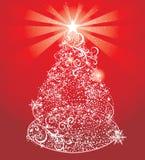 Abstracte glanzende Kerstmisboom stock illustratie