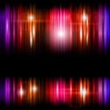 Abstracte glanzende kleurrijke lijnenachtergrond stock illustratie