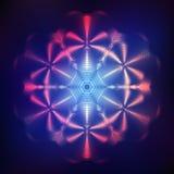 Abstracte glanzende kosmische ster Royalty-vrije Stock Fotografie