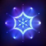 Abstracte glanzende kosmische ster Stock Fotografie