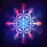 Abstracte glanzende kosmische ster Royalty-vrije Stock Foto's