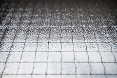 Abstracte glasachtergrond van gestreepte textuur in stof Stock Fotografie