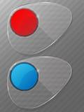 Abstracte glasachtergrond. Vector illustratie. Stock Afbeelding