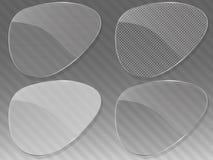 Abstracte glasachtergrond. Vector illustratie. Stock Foto's