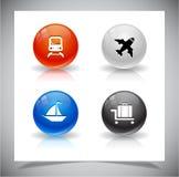 Abstracte glasballen. EPS10 dossier. Stock Afbeeldingen