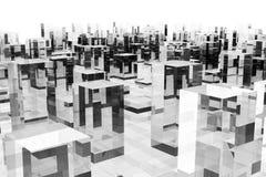 Abstracte glasstad Stock Afbeeldingen
