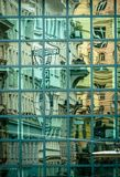Abstracte glastextuur Stock Foto
