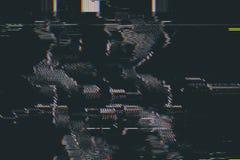 Abstracte Glitch van het testscherm Textuur stock afbeelding