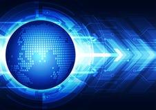 Abstracte globale communicatietechnologie, vectorachtergrond Stock Fotografie