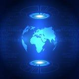 Abstracte globale toekomstige technologieachtergrond, vectorillustratie