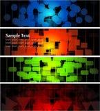 Abstracte gloeiende banners vector illustratie