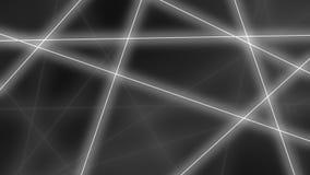 Abstracte gloeiende grijze lijnencrossings achtergrond het 3d teruggeven Stock Fotografie