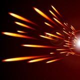 Abstracte gloeiende vuurlinies op een donkere achtergrond Royalty-vrije Stock Foto