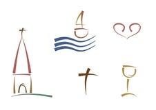 Abstracte godsdienstige symbolen Royalty-vrije Stock Afbeelding