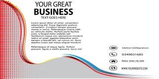 Abstracte Golf Bedrijfs Nieuwe Banner Stock Foto's