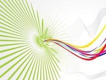 Abstracte golf met regenboog theme1 Royalty-vrije Stock Fotografie