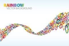 Abstracte golf van kleurrijke aantallen