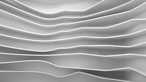 Abstracte golfachtergrond, 3 D geeft terug Stock Foto
