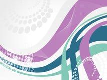 Abstracte golfachtergrond, vectorillustratie Royalty-vrije Stock Fotografie