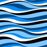 Abstracte golven in een naadloos patroon Royalty-vrije Stock Afbeeldingen