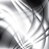 Abstracte golven modieuze zwart-wit achtergrond Stock Afbeeldingen