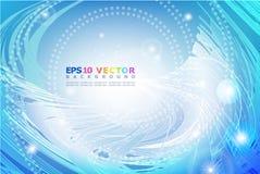 Abstracte golven op een blauwe achtergrond. Royalty-vrije Stock Fotografie