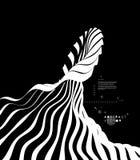 Abstracte golvende achtergrond Patroon met optische illusie Het malplaatje van het dekkingsontwerp vector illustratie