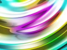 Abstracte golvende glanzende kleurrijke glanzende metaalachtergrond Stock Foto's