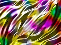 Abstracte golvende glanzende kleurrijke glanzende metaalachtergrond Royalty-vrije Stock Afbeeldingen