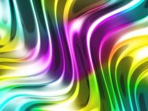Abstracte golvende glanzende kleurrijke glanzende metaalachtergrond Royalty-vrije Stock Afbeelding