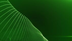 Abstracte golvende strepenachtergrond met digitale golvendeeltjes Animatie van naadloos lijngoed voor youtubeintro of stock illustratie