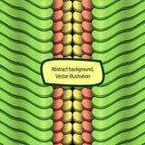 Abstracte golvende symmetrische achtergrond Stock Afbeeldingen