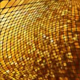 Abstracte goud gekleurde mozaïekachtergrond. EPS 8 Stock Afbeelding