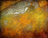 Abstracte gouden achtergrond met een netwerkstructuur Royalty-vrije Stock Foto