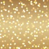 Abstracte gouden achtergrond met gouden punten en sterren Vector vector illustratie