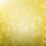 Abstracte gouden cirkelbokehachtergrond Stock Illustratie