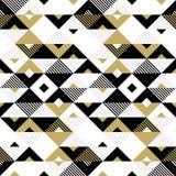Abstracte gouden de driehoeks vierkante vectorachtergrond van het patroon gouden geometrische ornament stock illustratie